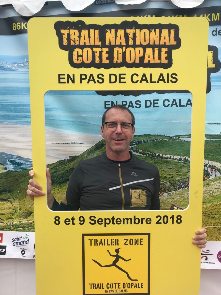 David au trail de la cote d'opale