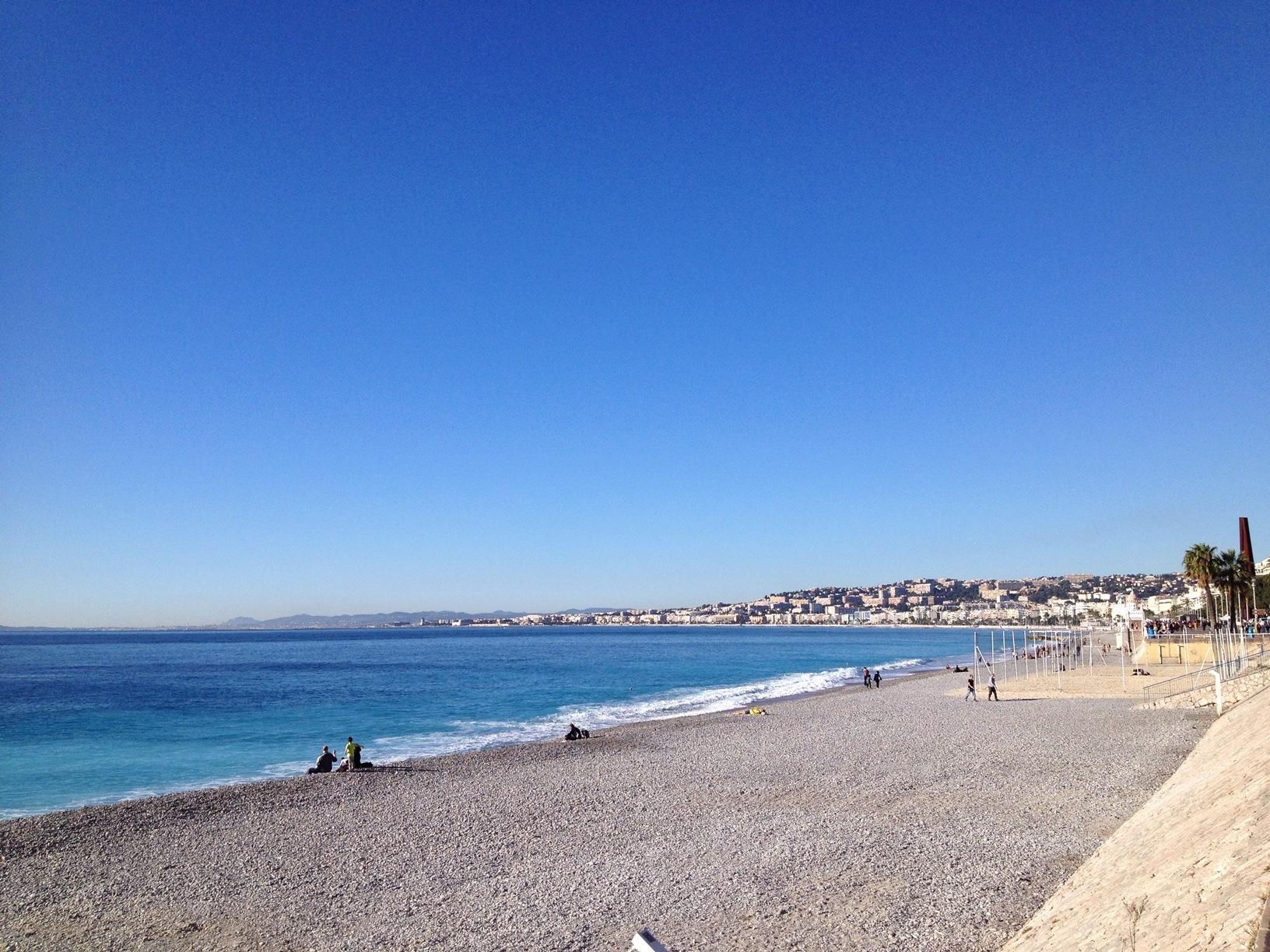 Marathon Nice Cannes : la plage de Nice