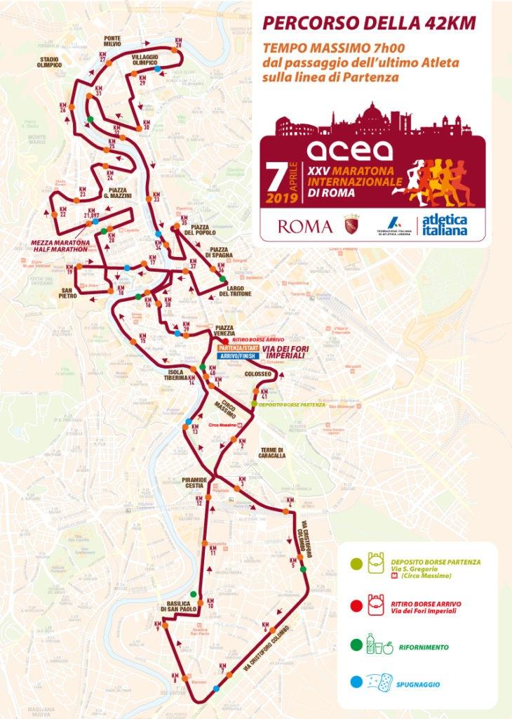 Parcours du Marathon de Rome