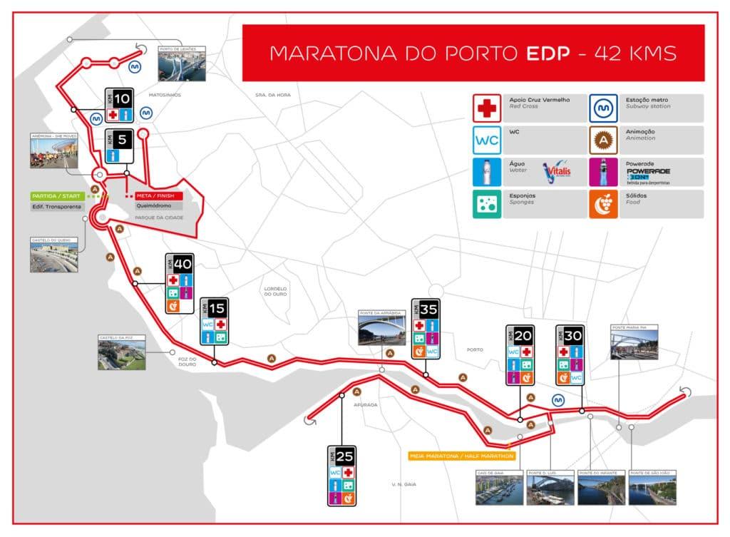 Parcours du Marathon de Porto