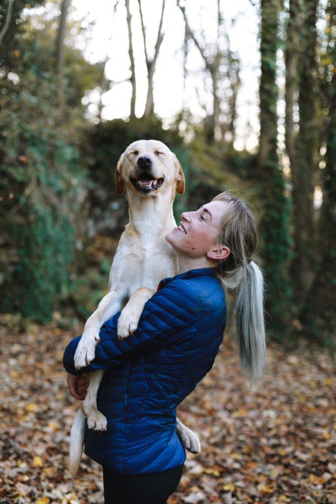 Courir avec un chien